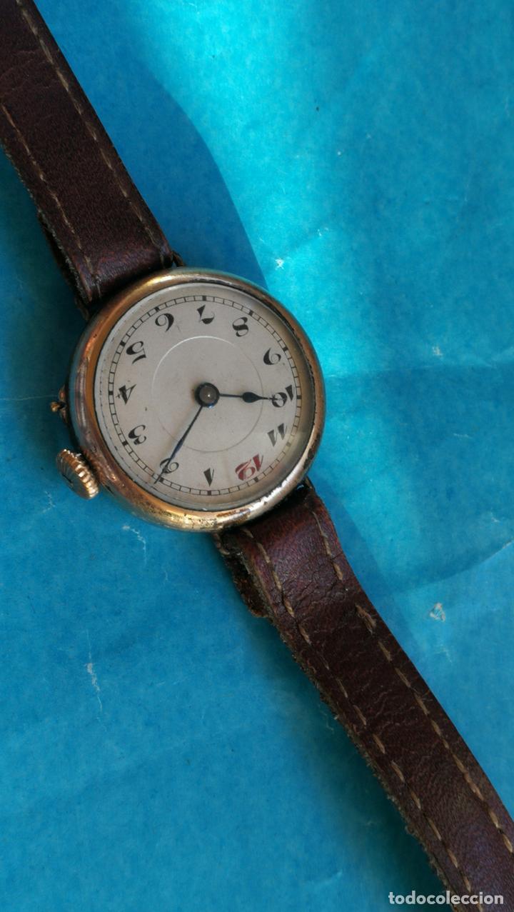 Relojes de pulsera: Botito y rarote reloj de pulsera, funciona pero a veces se para, por tanto para reparar o piezas - Foto 9 - 195048415