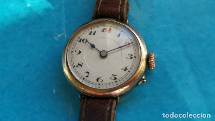Relojes de pulsera: Botito y rarote reloj de pulsera, funciona pero a veces se para, por tanto para reparar o piezas - Foto 12 - 195048415