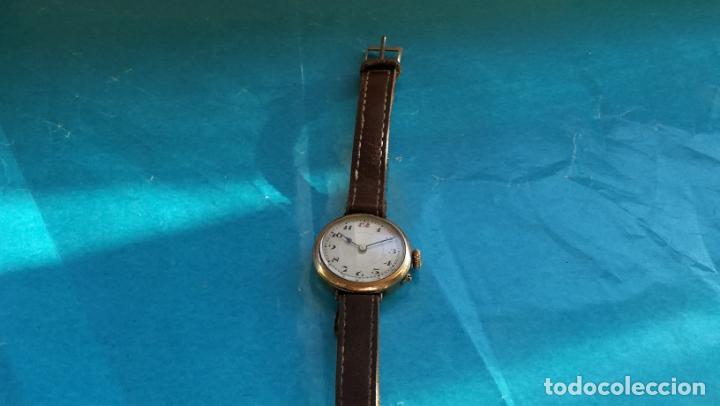 Relojes de pulsera: Botito y rarote reloj de pulsera, funciona pero a veces se para, por tanto para reparar o piezas - Foto 13 - 195048415