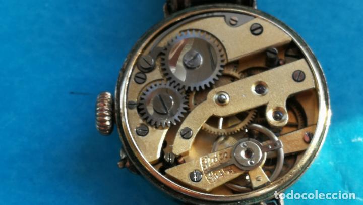 Relojes de pulsera: Botito y rarote reloj de pulsera, funciona pero a veces se para, por tanto para reparar o piezas - Foto 20 - 195048415
