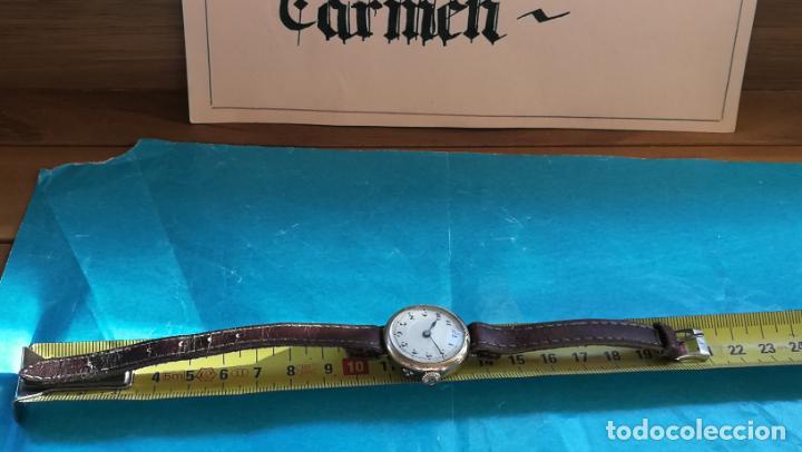 Relojes de pulsera: Botito y rarote reloj de pulsera, funciona pero a veces se para, por tanto para reparar o piezas - Foto 27 - 195048415