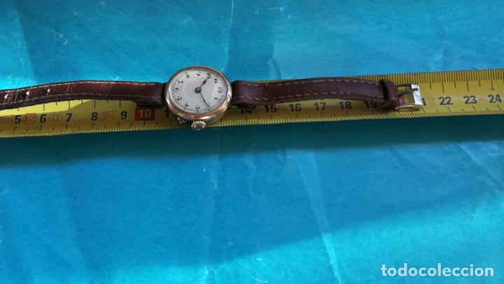 Relojes de pulsera: Botito y rarote reloj de pulsera, funciona pero a veces se para, por tanto para reparar o piezas - Foto 28 - 195048415