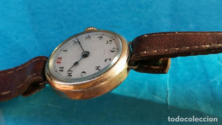 Relojes de pulsera: Botito y rarote reloj de pulsera, funciona pero a veces se para, por tanto para reparar o piezas - Foto 30 - 195048415
