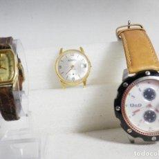 Relojes de pulsera: INTERESANTE LOTE DE 3 RELOJES A RESTAURAR DYG RADIAN DOYRON CHAPADO LOTE WATCHES. Lote 195049097