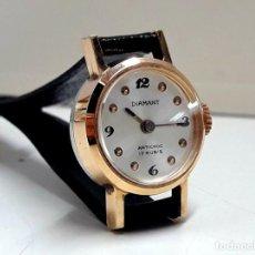 Relojes de pulsera: PEQUEÑO RELOJ VINTAGE MARCA DIAMANT DE SEÑORA AÑOS 70 CARGA MANUAL CALIBRE CHAIKA 1601 Y NUEVO . Lote 195127737