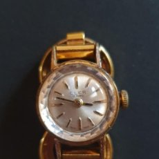 Relojes de pulsera: RELOJ CLER 17 RUBIS, SWISS MADE, SEÑORA, CHAPADO EN ORO. Lote 195194462
