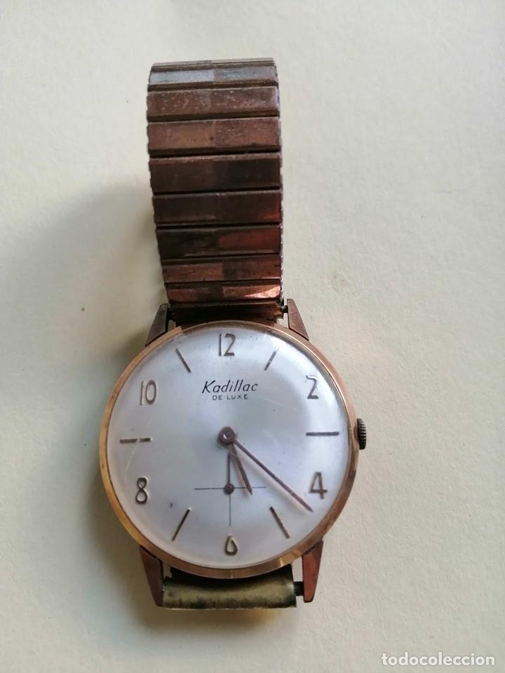 PRECIOSO RELOJ KADILLAC DE LUXE CON CORREA ORIGINAL FUNCIONANDO (Relojes - Pulsera Carga Manual)