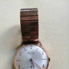 Relojes de pulsera: PRECIOSO RELOJ KADILLAC DE LUXE CON CORREA ORIGINAL FUNCIONANDO. Lote 195212482
