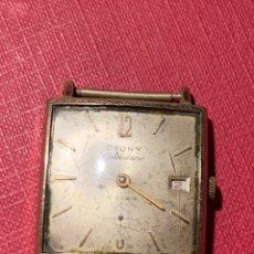 Relojes de pulsera: RELOJ DE CARGA MANUAL CAUNY CALENDARIO. Lote 195237993