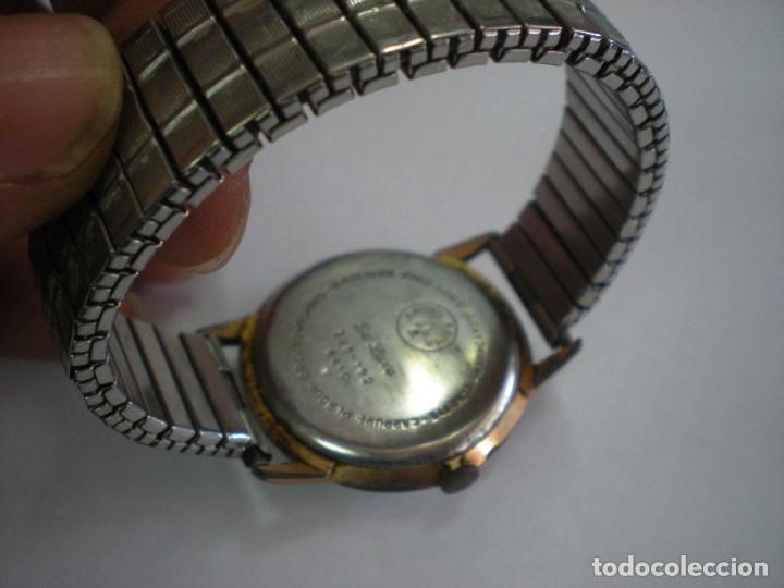 Relojes de pulsera: REJOJ CAUNY BAÑADO EN ORO, CON Nº 325-182-6410, 17 RUBIES - Foto 3 - 195314352