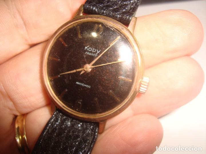 Relojes de pulsera: reloj kody antichoc ,carga manual , funcionando vintage - Foto 3 - 195329592