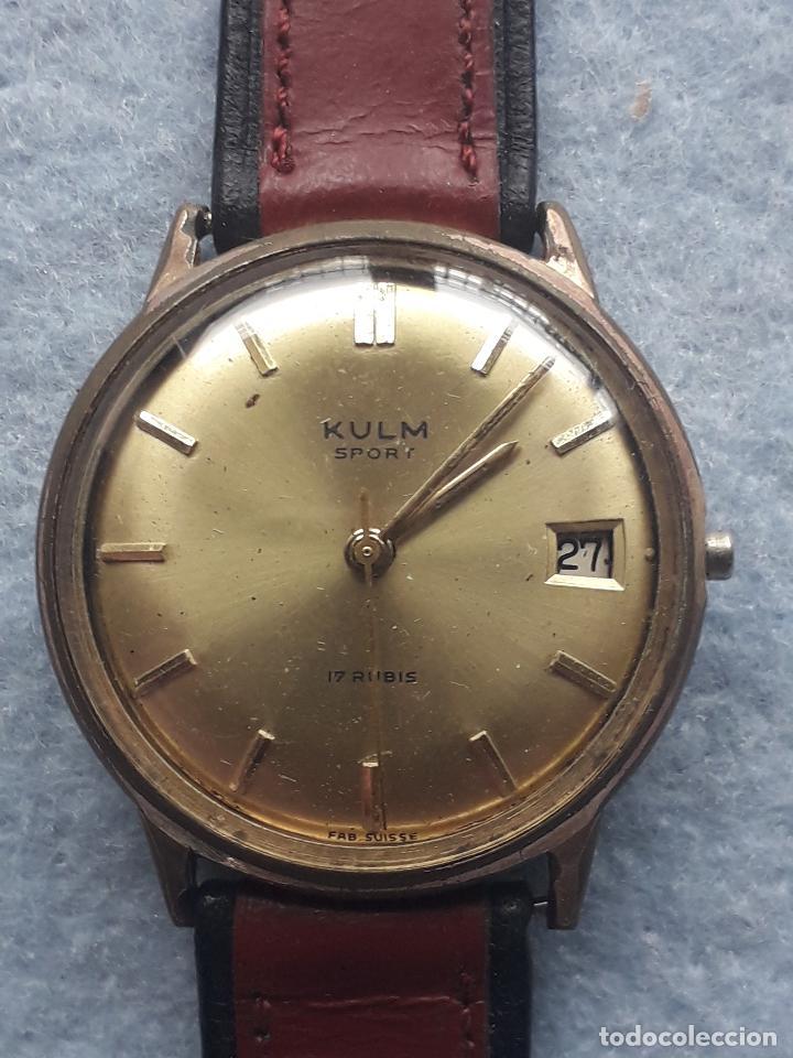 Relojes de pulsera: Reloj marca Kulm Sport. Clásico de caballero. Swiss made - Foto 9 - 195382146
