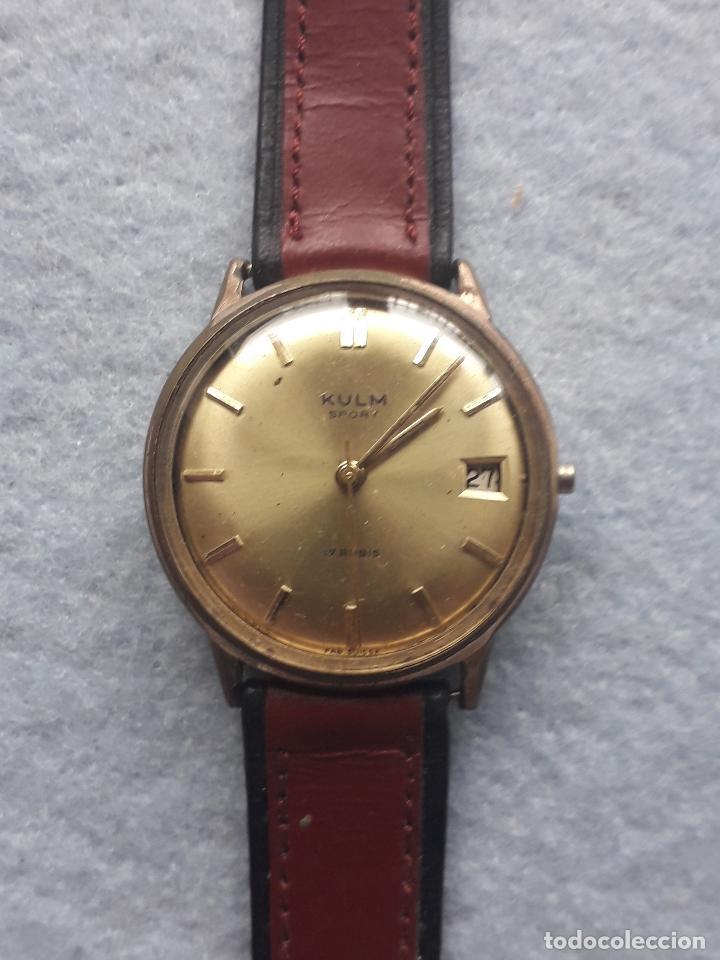 RELOJ MARCA KULM SPORT. CLÁSICO DE CABALLERO. SWISS MADE (Relojes - Pulsera Carga Manual)