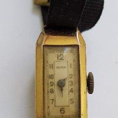 Relojes de pulsera: MUY ANTIGUO Y RARO RELOJ RODE - DE DAMA - LAMINADO EN ORO - TODO ORIGINAL - PARA REPARAR. Lote 195418255