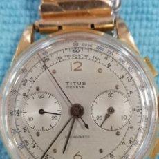 Relojes de pulsera: RELOJ CRONÓMETRO MANUAL TITUS GENEVE ORO 18K. Lote 195420297