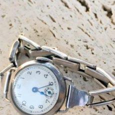 Relojes de pulsera: RELOJ TRENCH PLATA 925 MUJER (MECANISMO MOVADO). Lote 195422606