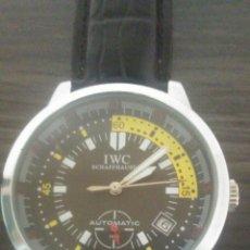 Relojes de pulsera: RELOJ IWC AUTOMATICO EN MUY BUEN ESTADO FUNCIONA PERFECTAMENTE RARO DE VER. Lote 195426207