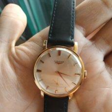 Relojes de pulsera: LONGINES 30L CHAPADO ORO 20 MICRAS REVISADO. Lote 195477433