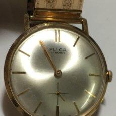Relojes de pulsera: RELOJ FLICA ORO 18KL 750 MILÉSIMAS CARGA MANUAL 17 RUBIS COMO NUEVO. Lote 195551461