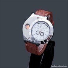 Relojes de pulsera: RELOJ DE HOMBRES CON ENCENDEDOR DE CARGA USB SIN LLAMA. Lote 195953472