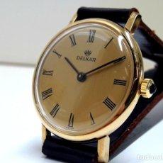Relógios de pulso: PRECIOSO RELOJ VINTAGE DE SEÑORA MARCA DELKAR AÑOS 70 DE CARGA MANUAL CALIBRE ETA 2512 Y NUEVO. Lote 196575001