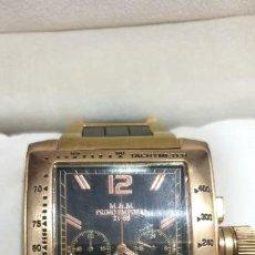 Relojes de pulsera: RELOJ PULSERA PRIMO EMPORIO M&M 21-68 COLOR ORO ROSA CAJA THERMIDOR. Lote 196723303