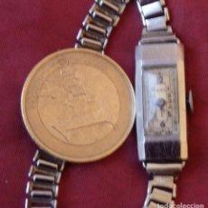 Relojes de pulsera: RELOJ DE CUERDA PEQUEÑÍSIMO DE SEÑORITA FUNCIONANDO. Lote 197274936