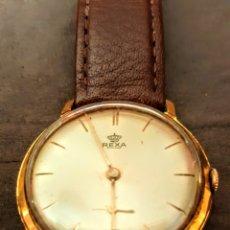 Relojes de pulsera: RELOJ SWSS REXA 17RUVIS DE CUERDA CHAPADO 10MICRAS ORO FUNCIONA PERFECTAMENTE. Lote 198546641