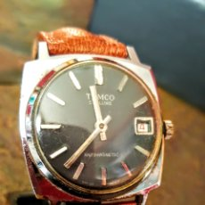 Relojes de pulsera: RELOJ SWSS TENCO DE LUXE CALENDARIO DE CARGA MANUAL FUNCIONA PERFECTAMENTE DIAMETRO 35MILIMTROS. Lote 198601360