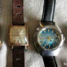 Relojes de pulsera: LOTE DE 4 RELOJES DUWARD (2), CAUNY Y TITAN. DIFERENTES MATERIALES Y ÉPOCAS. Lote 199117953