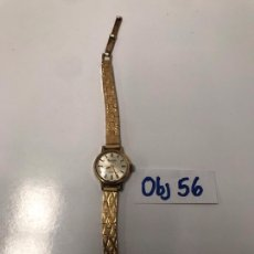 Relojes de pulsera: RELOJ DE MUJER VINTAGE CHAPADO EN ORO. Lote 199148712