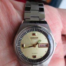 Relojes de pulsera: RELOJ DE PULSERA CITIZEN CARGA MANUAL - FUNCIONANDO - CORREA ORIGINAL DE ACERO INOXIDABLE. Lote 199157891