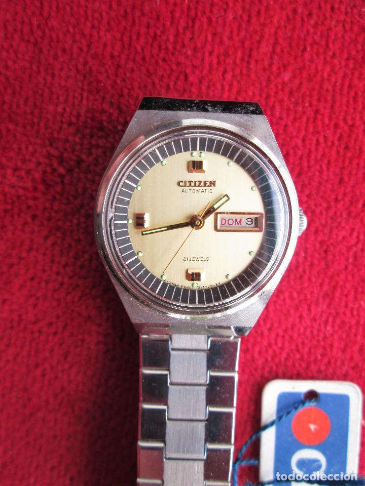Relojes de pulsera: RELOJ DE PULSERA CITIZEN CARGA MANUAL - FUNCIONANDO - CORREA ORIGINAL DE ACERO INOXIDABLE - Foto 3 - 199157891