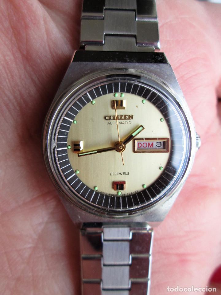 Relojes de pulsera: RELOJ DE PULSERA CITIZEN CARGA MANUAL - FUNCIONANDO - CORREA ORIGINAL DE ACERO INOXIDABLE - Foto 5 - 199157891