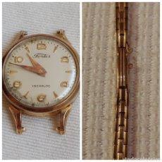 Relojes de pulsera: ANTIGUO RELOJ FORTIS PLACA ORO 20 MICRONS CON SU PULSERA. Lote 199265138