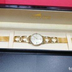 Relógios de pulso: RELOJ DE CABALLERO EN ORO MATHEY TISSOT,AÑOS 50, CON ESCASO CALIBRE MEJORADO PESEUX 192A DE 19 JOYAS. Lote 199326838