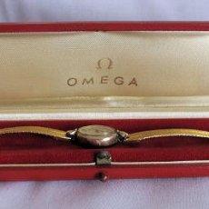 Relojes de pulsera: RELOJ DE SRA OMEGA 10K GOLD FILLED CUERDA EN ESTUCHE. Lote 199488455