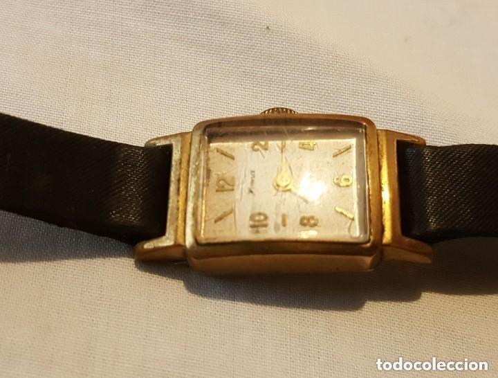 Relojes de pulsera: HOMA INCABLOC 17 JOYAS 1942 - RELOJ DE SEÑORAS ORO PLATEADO - Foto 2 - 199669248