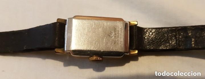 Relojes de pulsera: HOMA INCABLOC 17 JOYAS 1942 - RELOJ DE SEÑORAS ORO PLATEADO - Foto 4 - 199669248