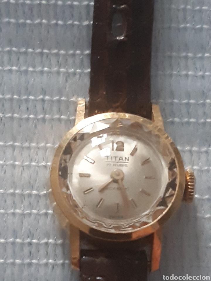 Relojes de pulsera: RELOJ DE ORO TITAN 17 RUBIS - Foto 2 - 199856445