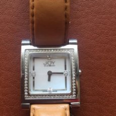 Relojes de pulsera: RELOJ PULSERA MUJER, JOY BY JOY TAKER J515, 4 BRILLANTES INTERIORES Y PEQUEÑISIMOS ALREDEDOR. Lote 200039718