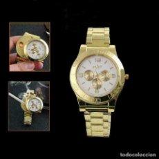 Relojes de pulsera: RELOJ CON ENCENDEDOR DE CARGA USB SIN LLAMA. Lote 200535351