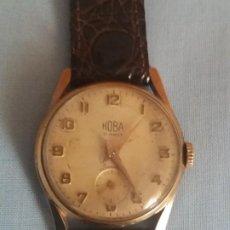 Relojes de pulsera: RELOJ HOBA CARGA MANUAL 15 RUBIS.. Lote 200544157