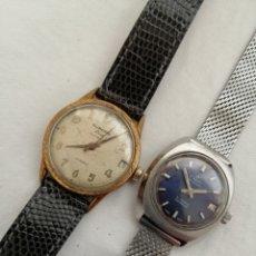 Relojes de pulsera: DOS ANTIGUOS RELOJES A CUERDA.. Lote 201125140