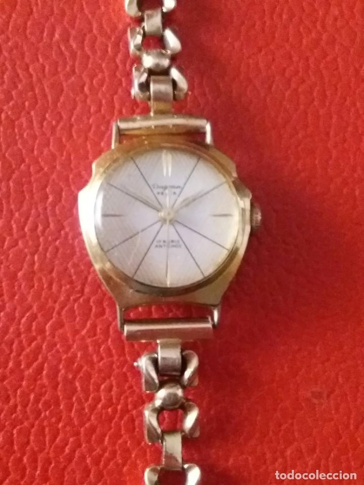Relojes de pulsera: RELOJ DE MUJER DUGENA FESTA CARGA MANUAL 17 RUBIS - Foto 4 - 201209443