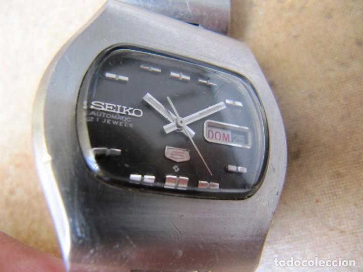 ANTIGUO RELOJ AUTOMÁTICO SEIKO 5 MODELO 6119 - 5413. 21 RUBIS (Relojes - Pulsera Carga Manual)