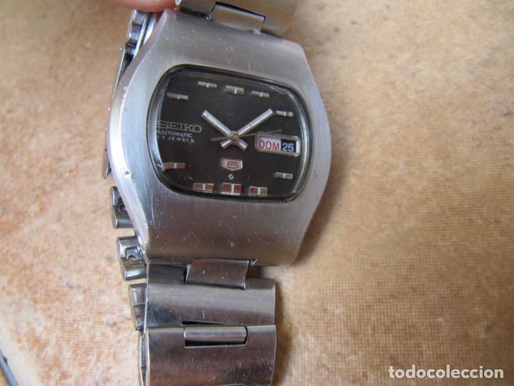 Relojes de pulsera: ANTIGUO RELOJ AUTOMÁTICO SEIKO 5 MODELO 6119 - 5413. 21 RUBIS - Foto 4 - 201958271