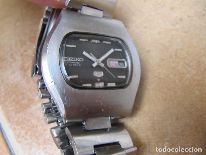 Relojes de pulsera: ANTIGUO RELOJ AUTOMÁTICO SEIKO 5 MODELO 6119 - 5413. 21 RUBIS - Foto 5 - 201958271