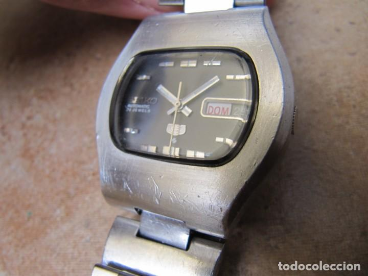 Relojes de pulsera: ANTIGUO RELOJ AUTOMÁTICO SEIKO 5 MODELO 6119 - 5413. 21 RUBIS - Foto 6 - 201958271