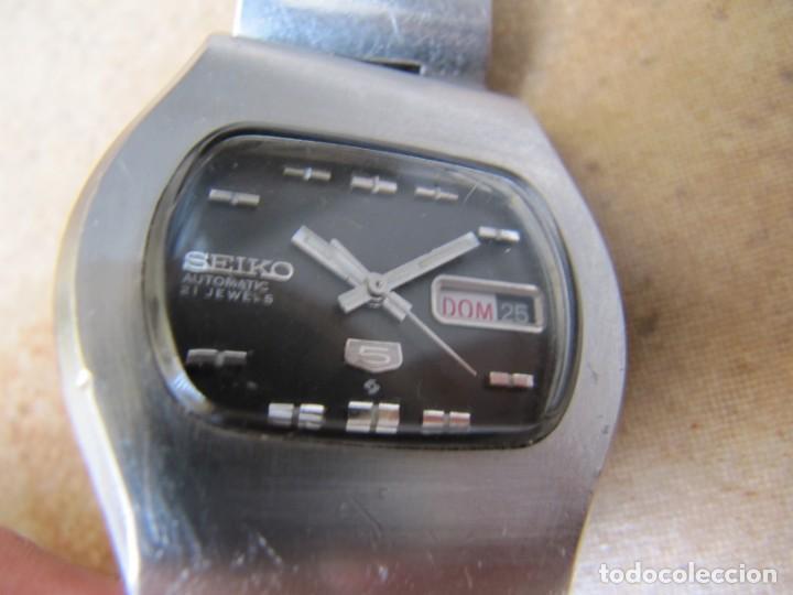 Relojes de pulsera: ANTIGUO RELOJ AUTOMÁTICO SEIKO 5 MODELO 6119 - 5413. 21 RUBIS - Foto 7 - 201958271